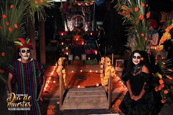 Altar de muertos grupo 333  preparatoria 16 de septiembre campus Maestros Federales